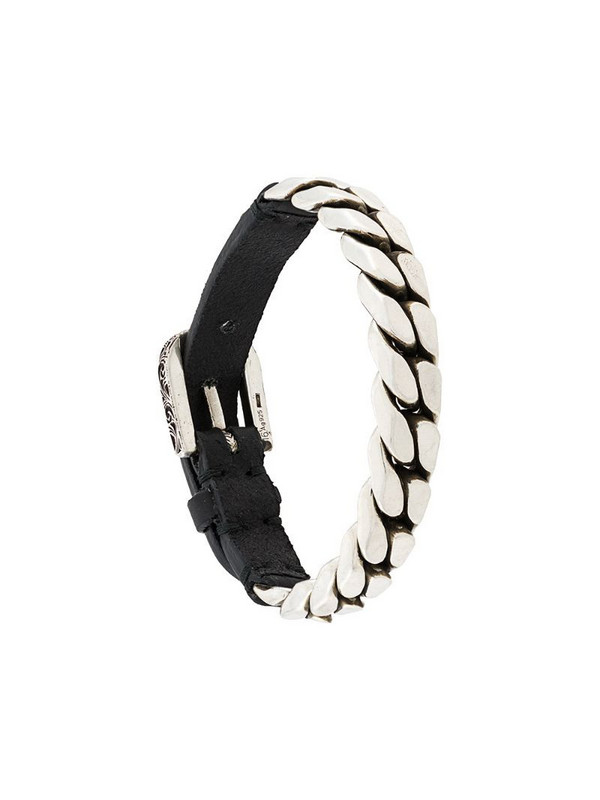 Gucci buckled chain bracelet in silver
