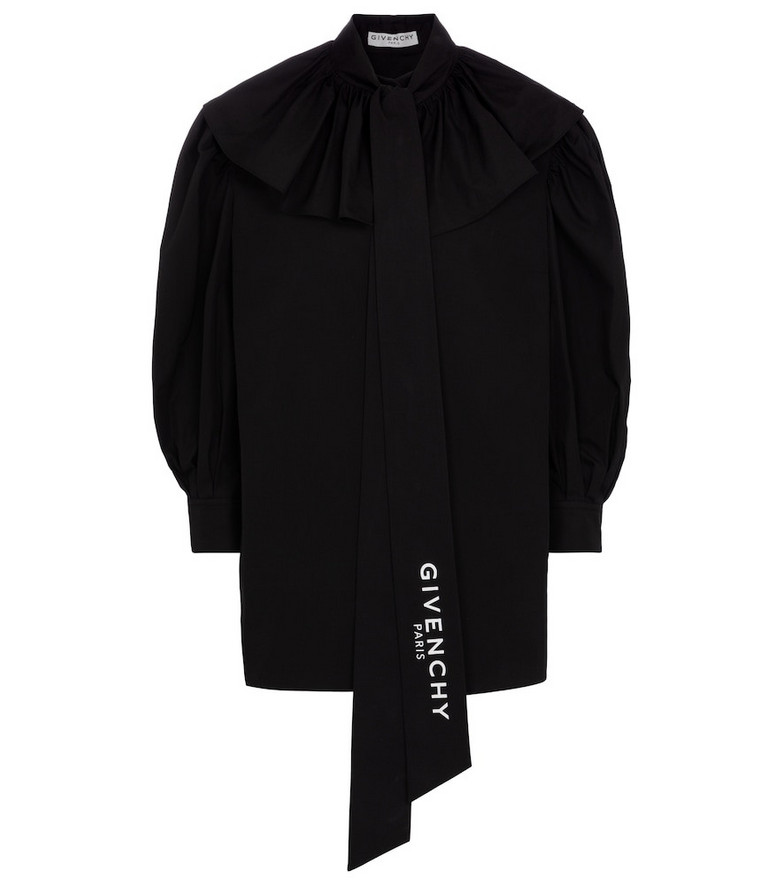 Givenchy Cotton poplin blouse in black