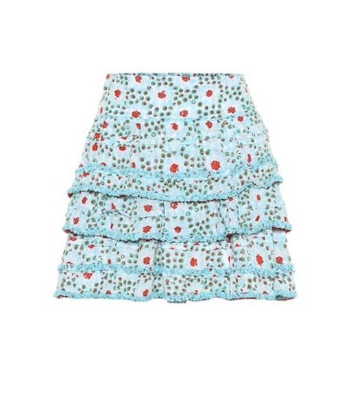 Poupette St Barth Exclusive to Mytheresa – Bibi printed miniskirt in blue