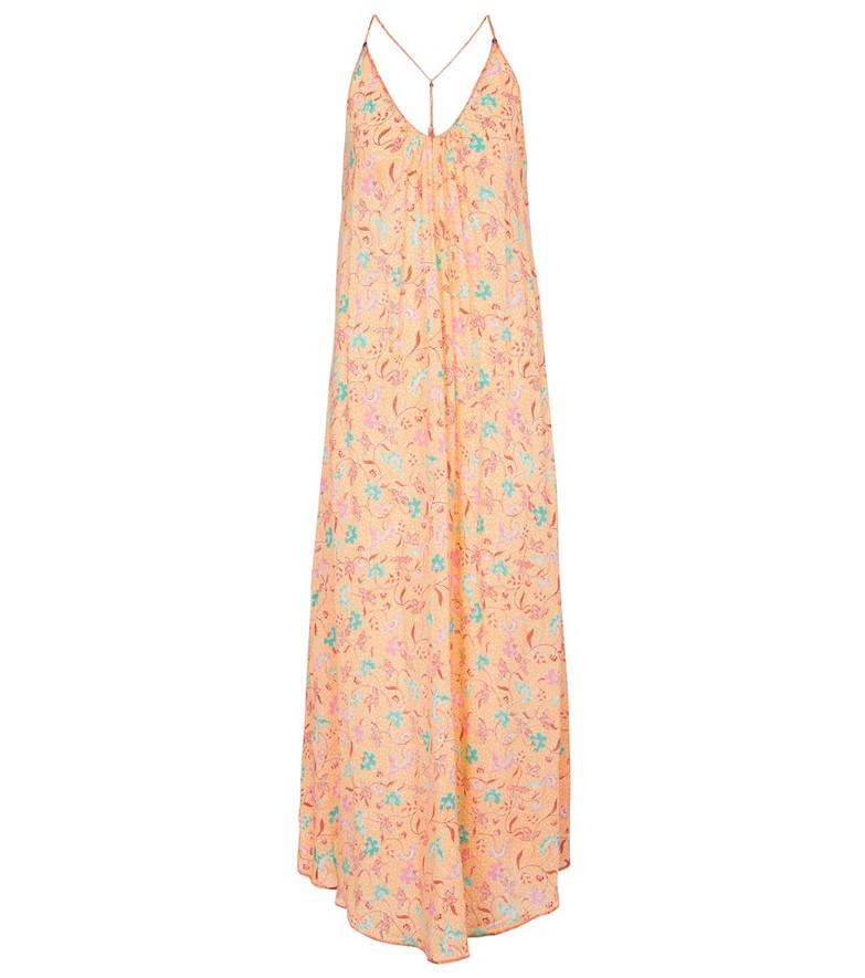 Poupette St Barth Exclusive to Mytheresa – Felicia floral midi dress in orange