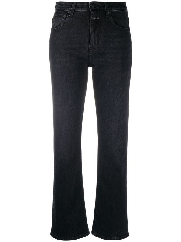 Closed mid-rise flared jeans in black