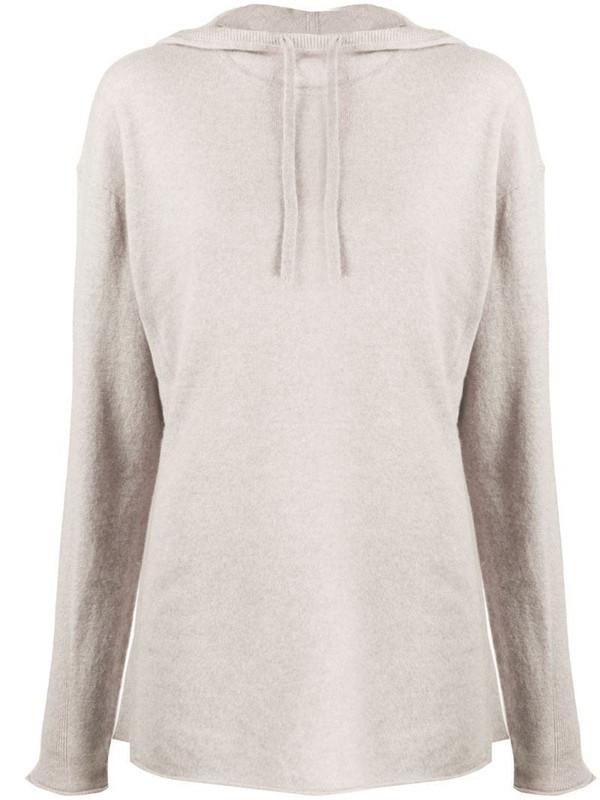 Filippa K Soft Sport cashmere drawstring hoodie in grey