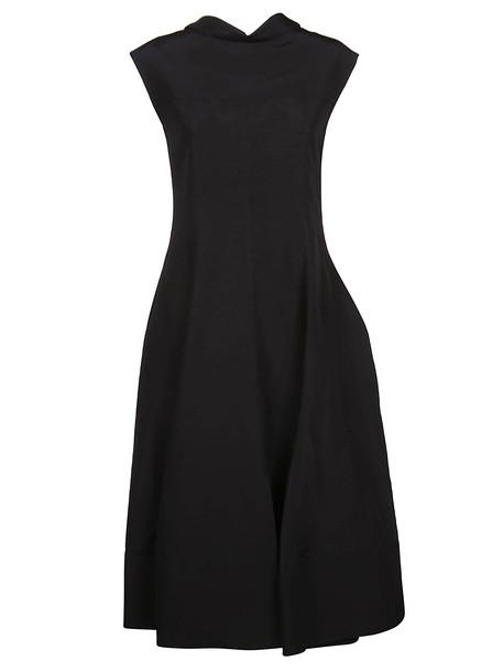 Jil Sander Puff Skirt Dress in black