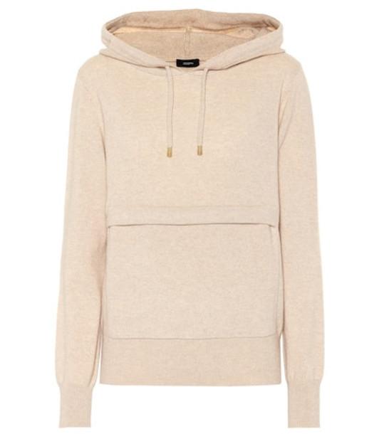 Joseph Cashmere hoodie in beige / beige