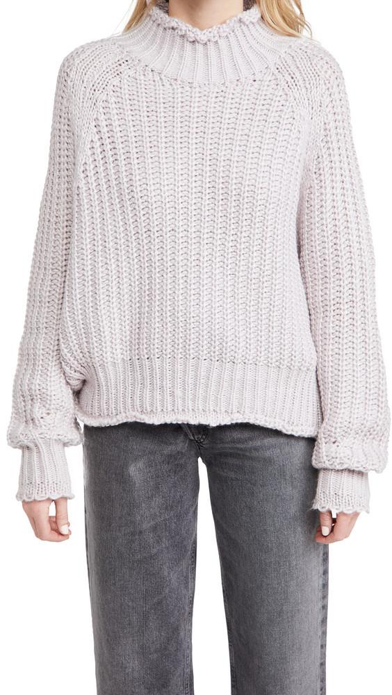 En Saison Chunky Knit Sweater in lilac