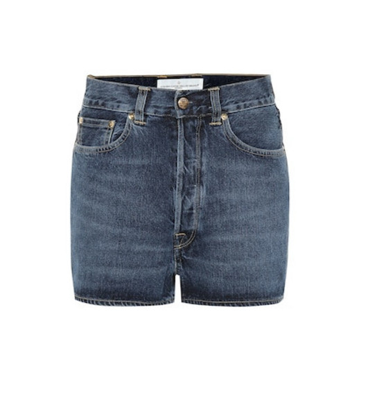 Golden Goose Deluxe Brand Judy high-rise denim shorts in blue