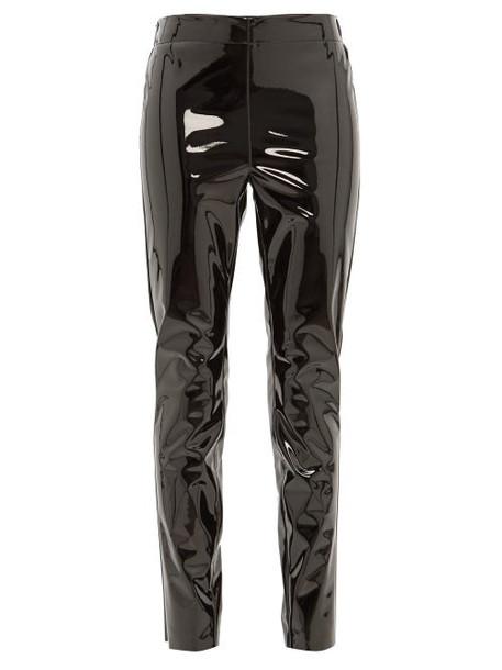 Raey - Elasticated Back Skinny Vinyl Trousers - Womens - Black