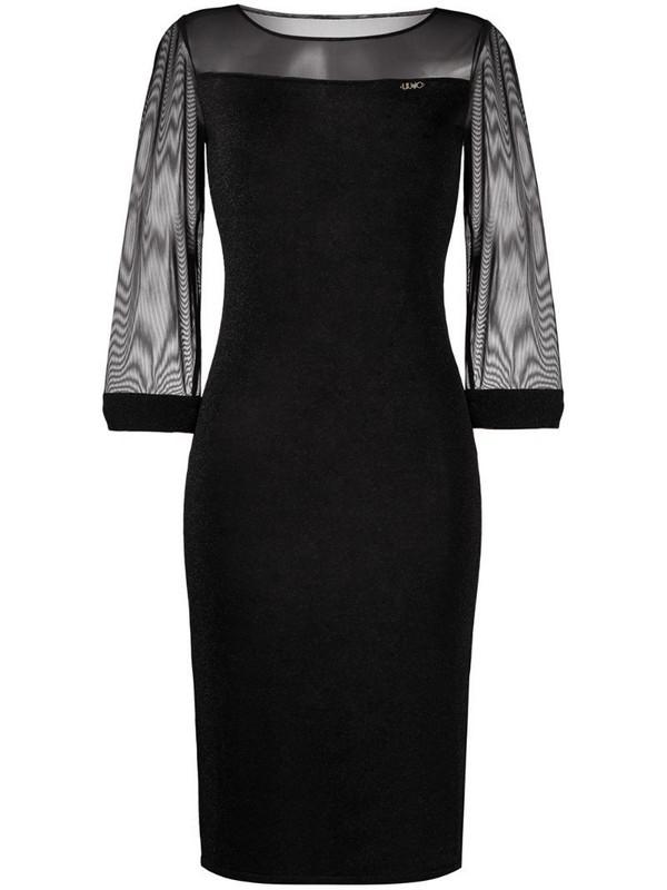 LIU JO fitted midi dress in black