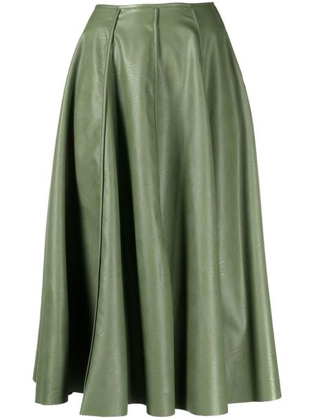 Jejia A-line flared midi skirt in green