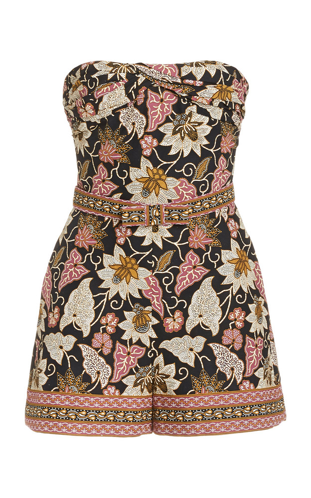 Alexis Lilias Floral-Print Cotton Romper in multi