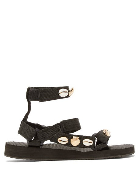 Arizona Love - Trekky Shell Embellished Sandals - Womens - Black Multi