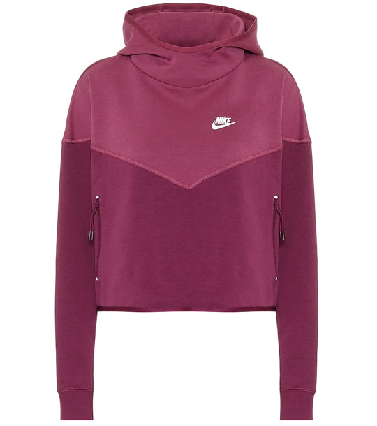 Nike Cotton-blend hoodie in red