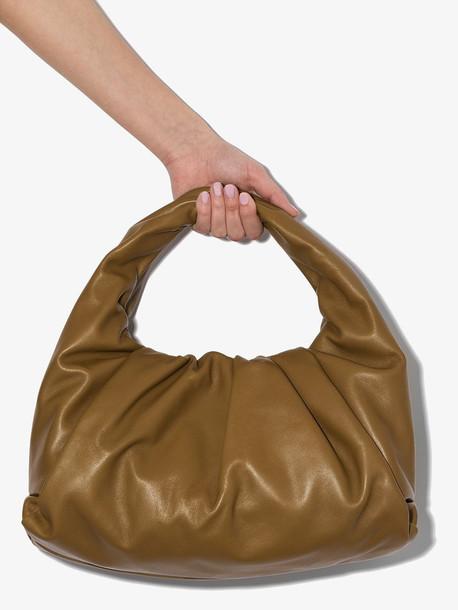 Bottega Veneta green The Shoulder Pouch leather bag
