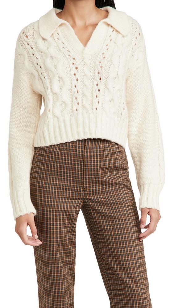 Ciao Lucia Torino Alpaca Sweater in ivory