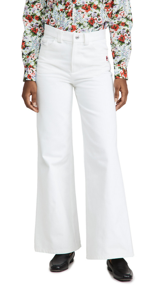 The Marc Jacobs The Flared Jeans in white