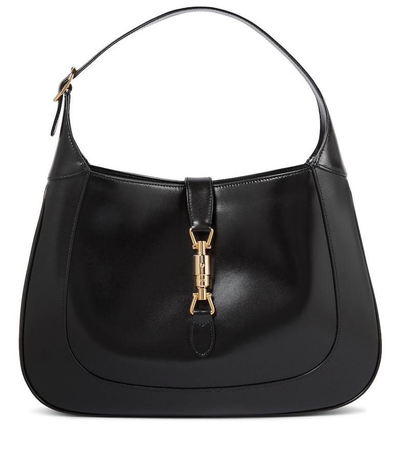 Gucci Jackie 1961 Medium leather shoulder bag in black