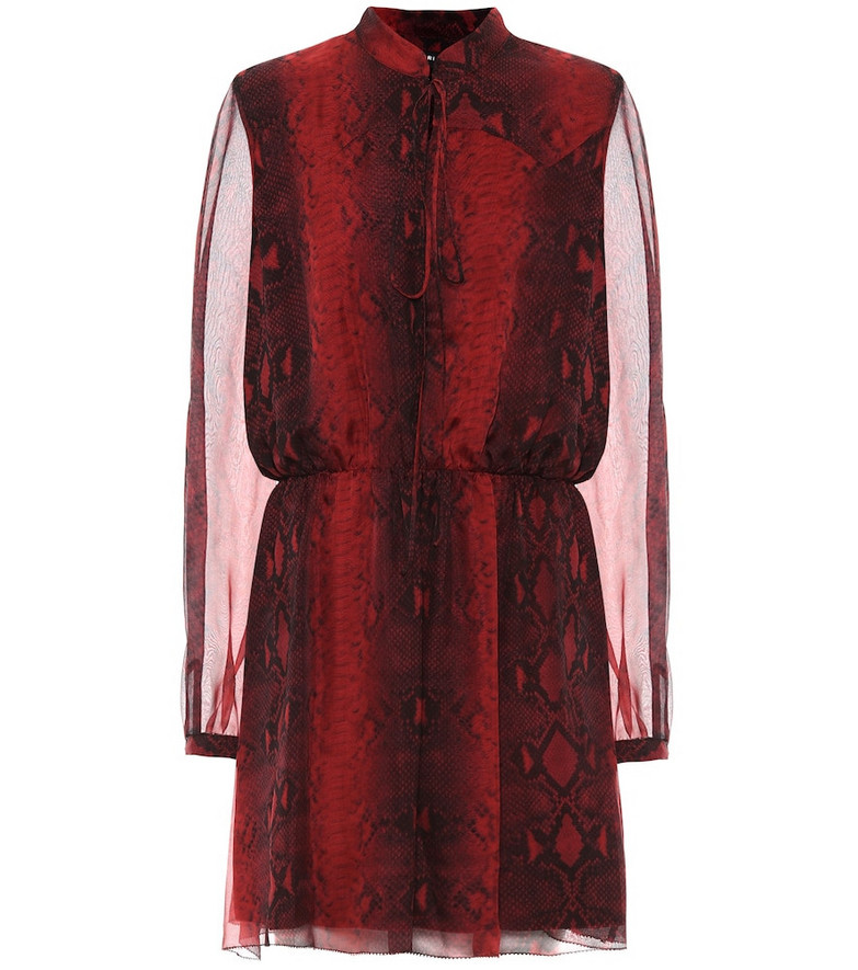 Amiri Printed silk minidress in red