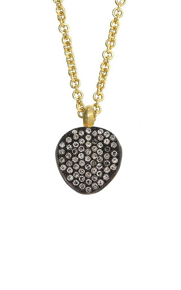 LFrank 18K Yellow Gold Pavé Diamond Necklace in black