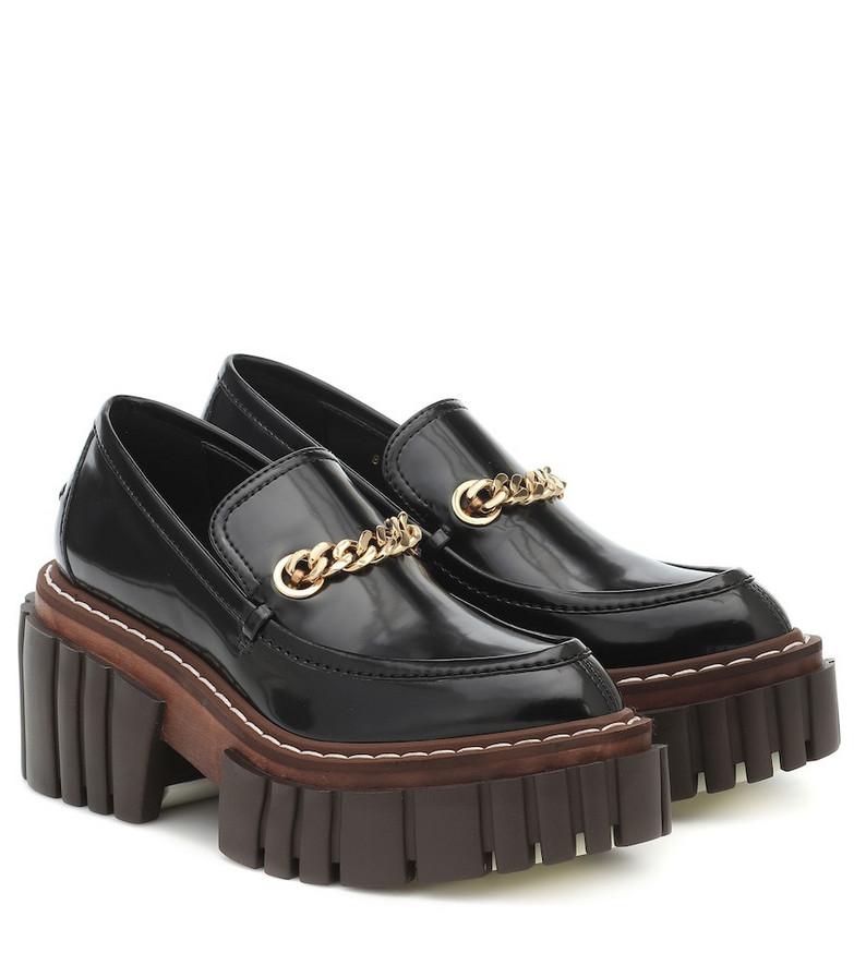 Stella McCartney Emilie faux leather loafers in black