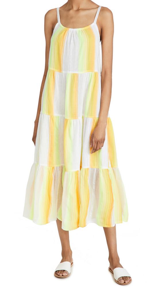 Lemlem Mazaa Cascade Dress in yellow