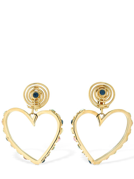 SAF SAFU Love En Spirale Clip-on Earrings in gold / multi