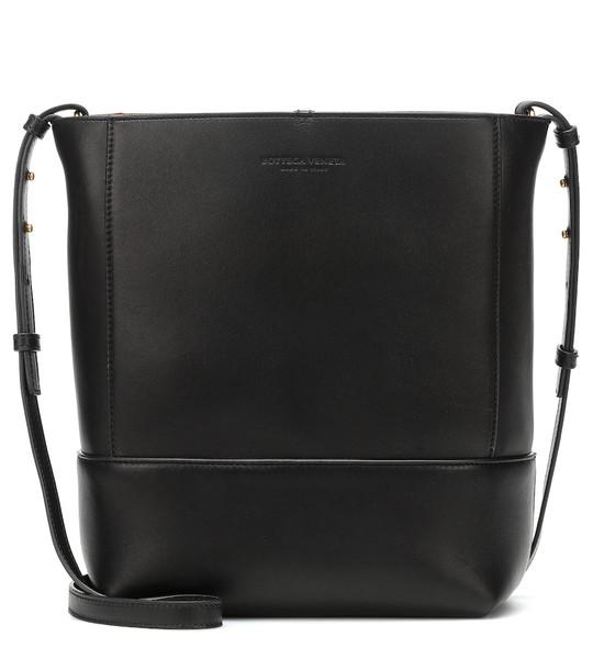 Bottega Veneta Leather shoulder bag in black