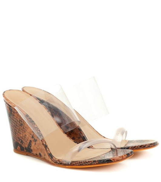 Maryam Nassir Zadeh Olympia leather and PVC sandals in brown