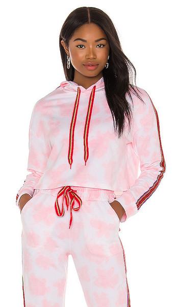 Pitusa Tie Dye Hoodie in Pink in coral