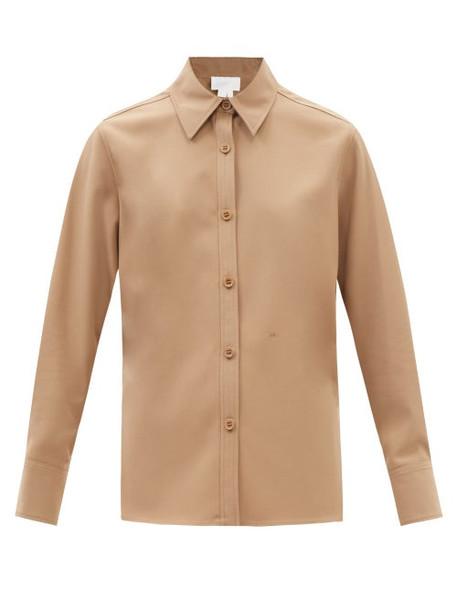 A.P.C. A.P.C. - X Suzanne Koller Kent Twill Shirt - Womens - Beige