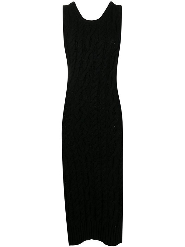 Telfar cable knit dress in black