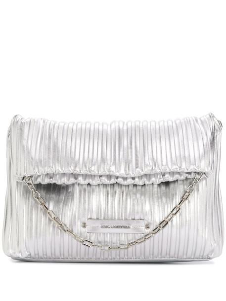 Karl Lagerfeld K/Kushion folded tote bag in silver