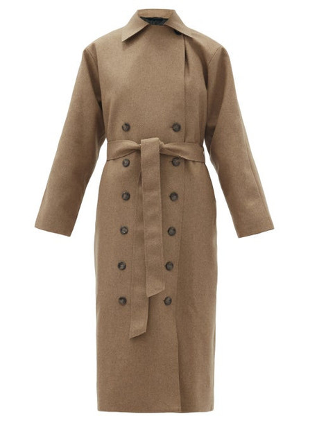 Totême - Terlago Wool-blend Trench Coat - Womens - Beige