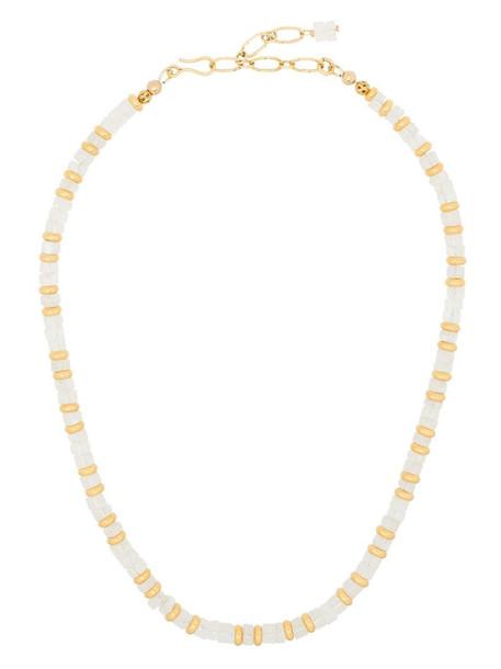 Brinker & Eliza two-tone gemstone necklace in gold