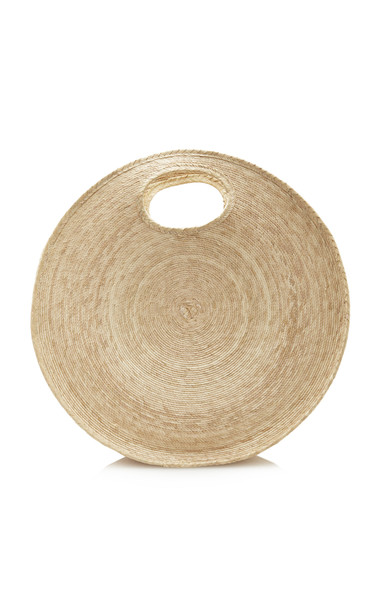 SVNR Straw Circle Tote in neutral