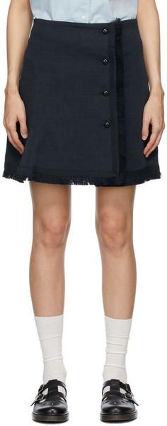 A.P.C. A.P.C. Navy Frida Miniskirt