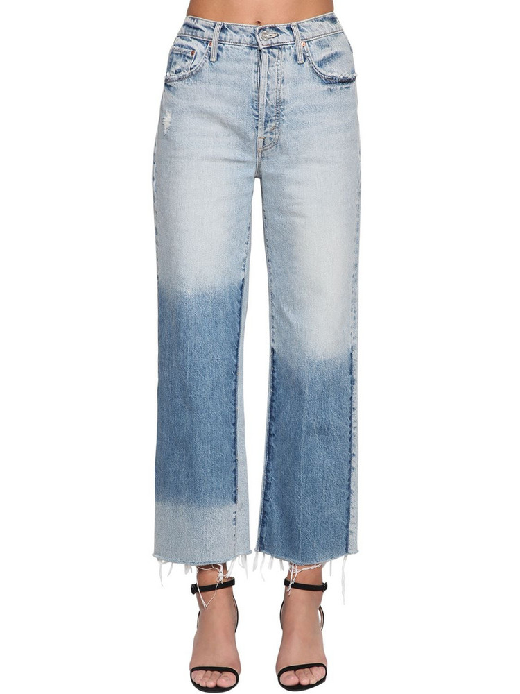 MOTHER The Rambler Frayed Ankle Jeans in blue