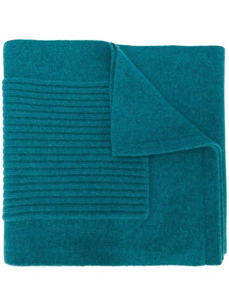 Pringle of Scotland ribbed pocket detail scarf in blue