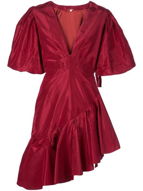 Johanna Ortiz Ruptura dress in red