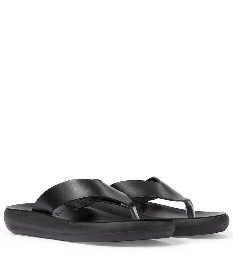 Ancient Greek Sandals Charys leather thong sandals in black