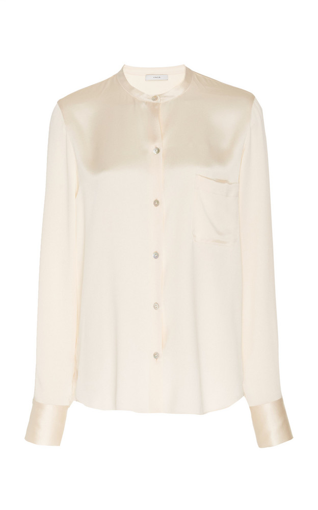 Vince Silk Blouse in neutral