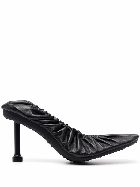 Balenciaga Tug 80mm square-toe gathered pumps - Black