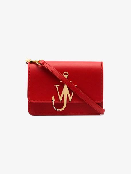 JW Anderson Scarlet Anchor Logo Bag in red