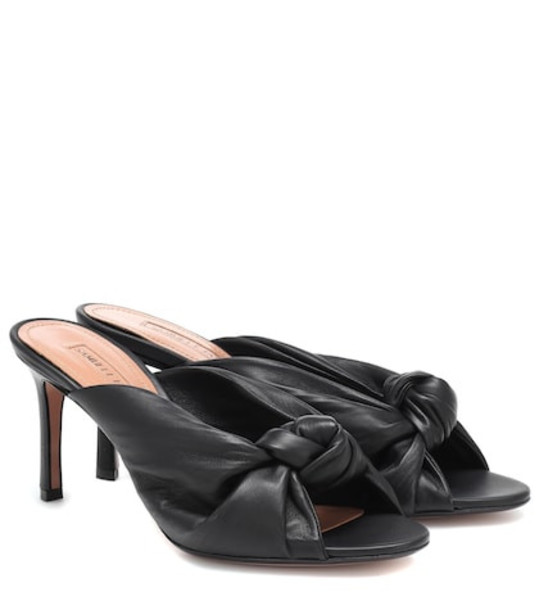 Samuele Failli Betsy leather mules in black