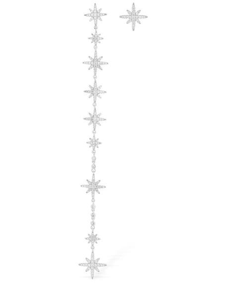 APM MONACO Long Asymmetric Meteorites Earrings in silver
