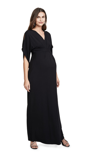 Ingrid & Isabel Kimono Maxi Dress in black