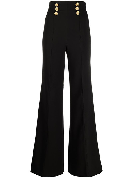 Elisabetta Franchi extra-high waist palazzo trousers in black