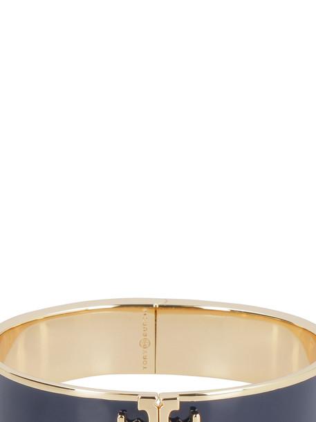Tory Burch Enamel Brass Bracelet With Logo in blue