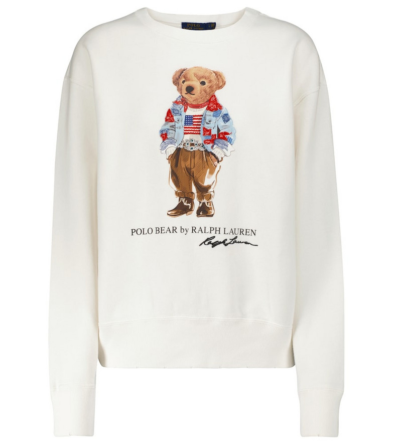 Polo Ralph Lauren Printed cotton-blend sweatshirt in white