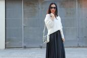 with or without shoes,blogger,top,skirt,sunglasses,shoes,bag,t-shirt,jewels