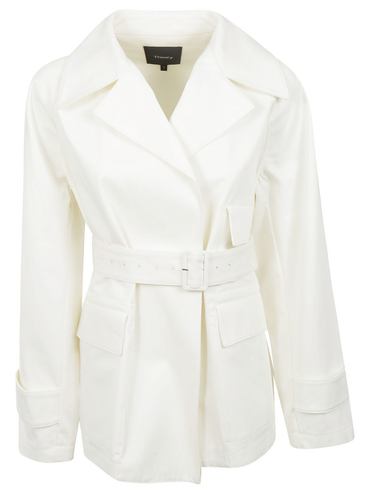 Theory Belted Blazer in white